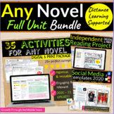 FULL Unit for ANY Novel & Independent Reading (Distance Le