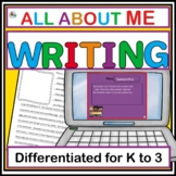 ALL ABOUT ME SHARING AND WRITING ACTIVITY