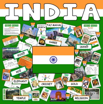 INDIA AND HINDI TEACHING RESOURCES