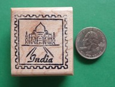 INDIA Countr/Passport Rubber Stamp