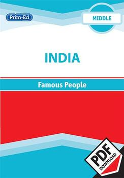 INDIA - FAMOUS PEOPLE: MIDDLE UNIT