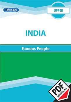 INDIA - FAMOUS PEOPLE: UPPER UNIT
