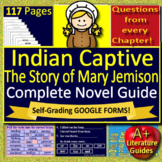 Indian Captive: The Story of Mary Jemison Novel Study Use With or Without Google