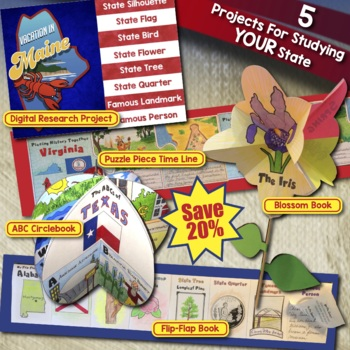INDIANA BUNDLE: Save 25% on Four State Projects and Activities