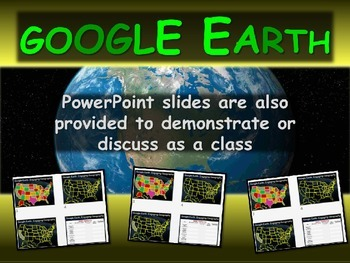 """""""INDIANA"""" GOOGLE EARTH Engaging Geography Assignment (PPT & Handouts)"""
