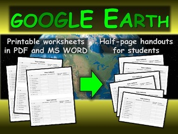 """INDIANA"" GOOGLE EARTH Engaging Geography Assignment (PPT & Handouts)"