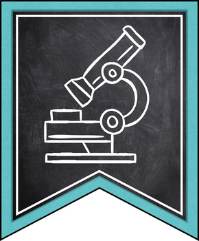 INDIANA SCIENCE STANDARDS BANNERS, 6th GRADE, TURQUOISE & CHALKBOARD