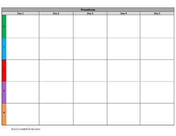 INDIANA Standards Aligned Special Education Lesson Plan Templates K-4