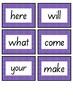 INDIGO LEVEL FLASH CARDS - FREEBIE - FIRST 100 WORDS