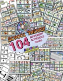 INDIVIDUAL SCHOOL Picture Schedule Cards 64! W/ Multiple Display Page Options!