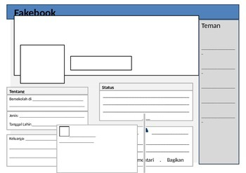 SIMPLIFIED INDONESIAN FAKEBOOK PROFILE PAGE TEMPLATE FOR KIDS