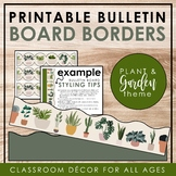INDOOR PLANTS & GARDEN Classroom Decor: Bulletin Board Borders