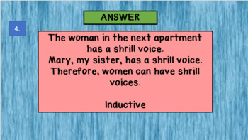 INDUCTIVE AND DEDUCTIVE REASONING POWER POINT