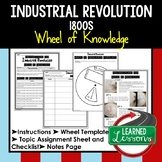 INDUSTRIAL REVOLUTION Activity, Wheel of Knowledge Interactive Notebook