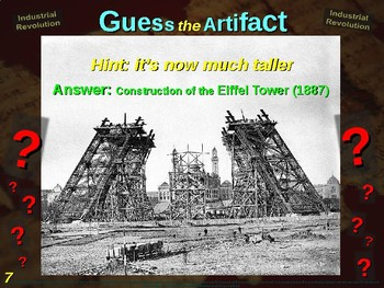 """INDUSTRIAL REVOLUTION """"Guess the Artifact"""" - for HS World History (4/10)"""