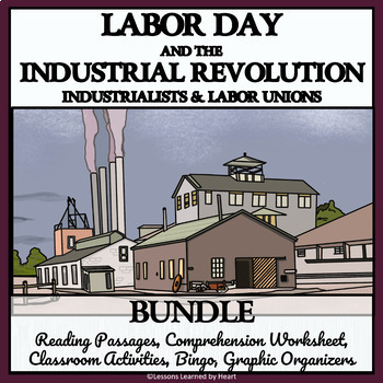 INDUSTRIAL REVOLUTION - Reading Passages, Comprehension, Activities & BINGO