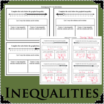 INEQUALITIES Activity Create and Learn Inequality