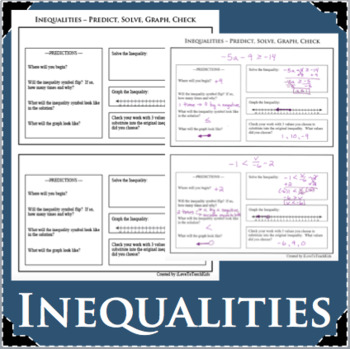 INEQUALITIES Activity Predict Solve Graph Check Inequality