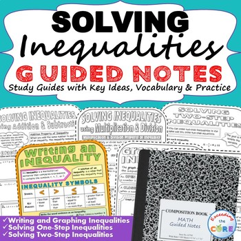 INEQUALITIES Doodle Notes - Interactive Math Notebooks