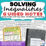INEQUALITIES Guided  Notes - Interactive Math Notebooks ( Study Guides )