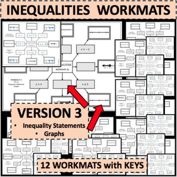 INEQUALITIES WORKMATS Set of 12 Differentiated Activities VERSION 3