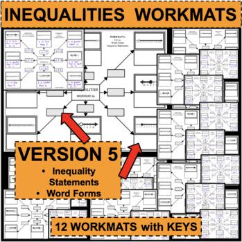 INEQUALITIES WORKMATS Set of 12 Differentiated Activities VERSION 5