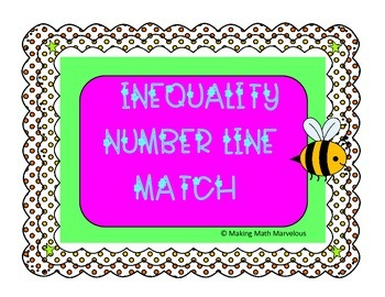 INEQUALITY NUMBER LINE MATCH