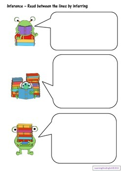 """GUIDED READING - INFERENCE BLANK WORKSHEETS """"Read between the Lines"""""""