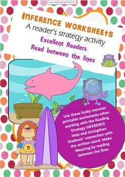 "GUIDED READING - INFERENCE BLANK WORKSHEETS ""Read between"