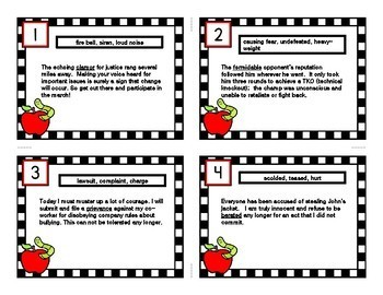 INFERENCE TASK CARDS using Context Clues # 11