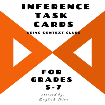 INFERENCE TASK CARDS using Context Clues # 12