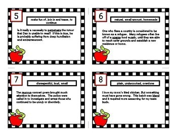 INFERENCE TASK CARDS using Context Clues # 13