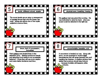 INFERENCE TASK CARDS using Context Clues # 14