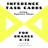 INFERENCE TASK CARDS using Context Clues # 9