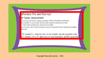 INFERENCE pre/post assessment