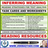 INFERRING MEANING WORKSHEETS WITH ANSWERS