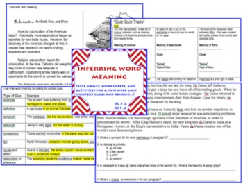 INFERRING WORD MEANING context clues and beyond... {CCS 5.4}