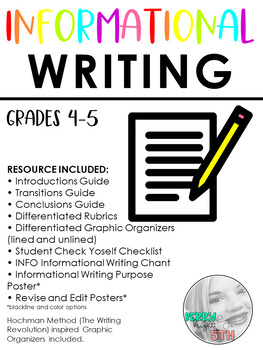 INFO Informational Essay Writing Resource Pack