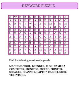 INFORMATION COMMUNICATION TECHNOLOGY (ICT) KEYWORD PUZZPLE