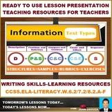 INFORMATION TEXT TYPES LESSON PRESENTATION