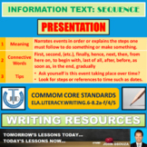 SEQUENTIAL INFORMATION TEXT LESSON PRESENTATION