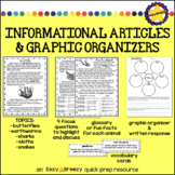 INFORMATIONAL ARTICLES and graphic organizers