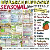 INFORMATIONAL WRITING: RESEARCH FLIPBOOK TEMPLATES BUNDLE: CELEBRATIONS