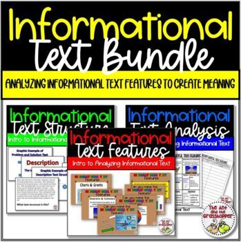 Reading INFORMATIONAL TEXT 101: Features and Structure Upper Grades MEGA BUNDLE