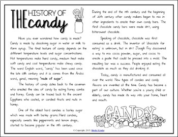 Candy: Informational Text Cross Curricular Style