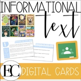 INFORMATIONAL TEXT: Evidence Based Digital Task Cards | DI
