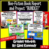 "Nonfiction Book Reports ""Bundle"" For the Entire Year! Use With any Books!"