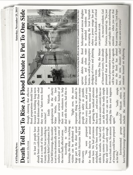INFORMATIONAL TEXT LESSON {Analyzing the Features of a News Article}