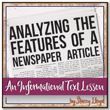 INFORMATIONAL TEXT LESSON {Analyzing the Features of a New