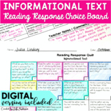 Informational Text Choice Board
